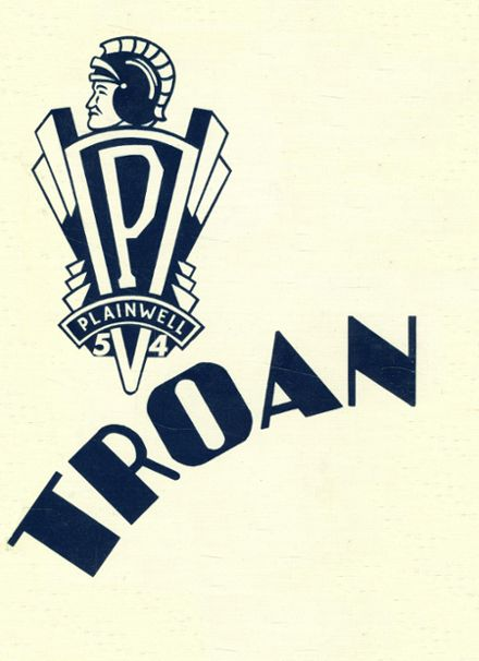 1954 Plainwell High School Yearbook Cover