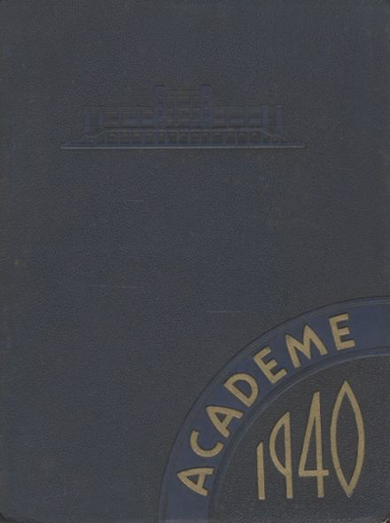 1940 Academy High School Yearbook Cover