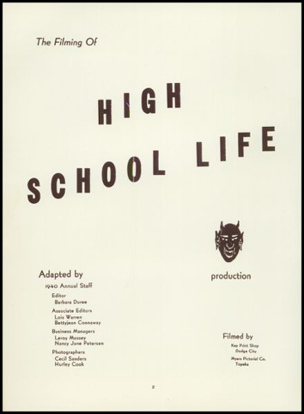 explore 1940 dodge city high school yearbook dodge city ks classmates. Cars Review. Best American Auto & Cars Review