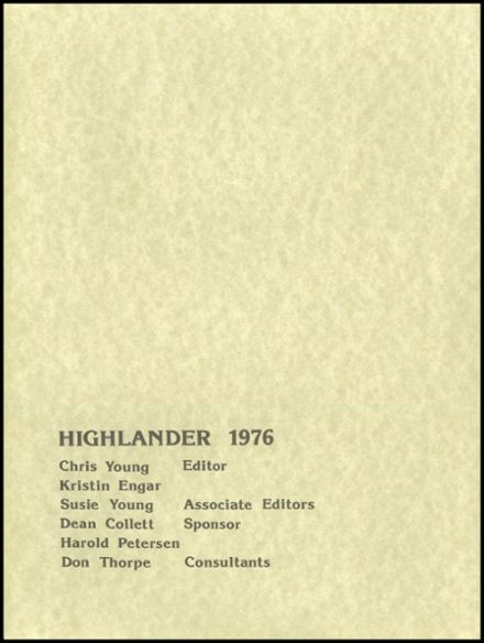 1976 Highland High School Yearbook Page 4