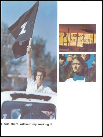 1976 Highland High School Yearbook Page 9