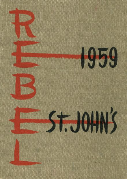 1959 St. John's School Yearbook Cover