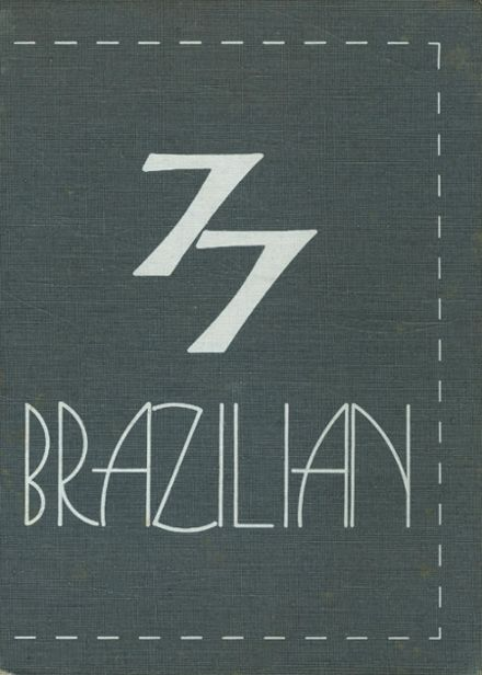 1977 Brazil High School Yearbook Cover