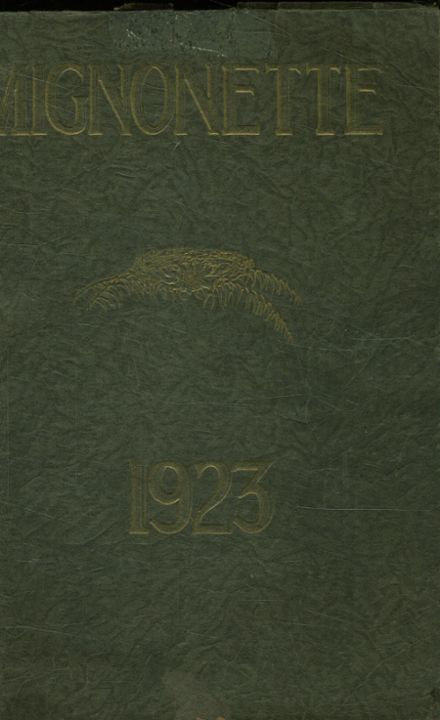 1923 St. Mary's Academy Yearbook Cover