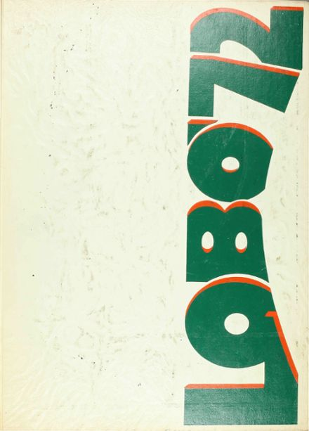 1972 Longview High School Yearbook Cover
