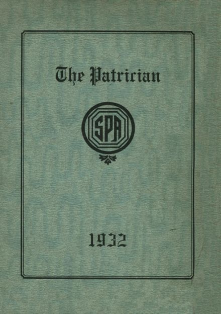 1932 St. Patrick's High School Yearbook Cover