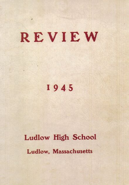 1945 Ludlow High School Yearbook Cover
