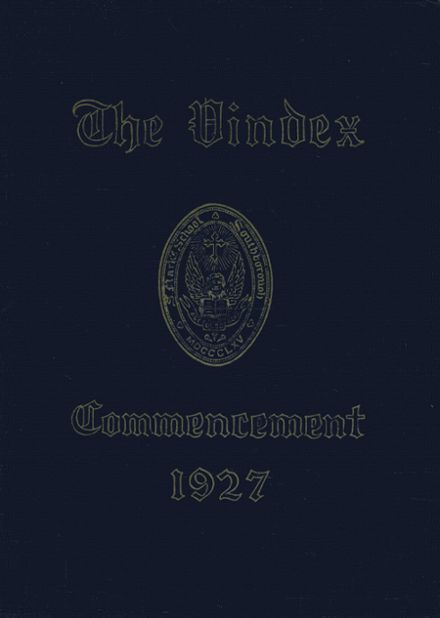 1927 St. Mark's High School Yearbook Cover