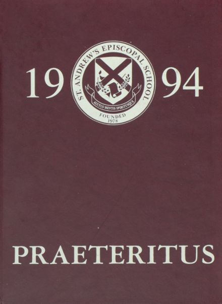 1994 St. Andrew's Episcopal School Yearbook Cover