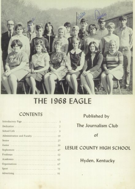 ... 1968 Leslie County High School Yearbook Page 62 & 63