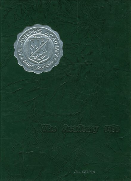 1981 St. Joseph's Academy Yearbook Cover