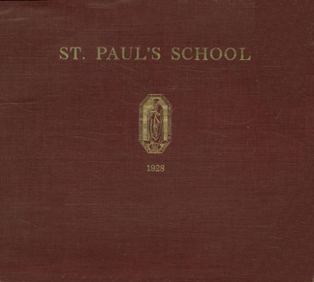 1928 St. Paul's School Yearbook Cover