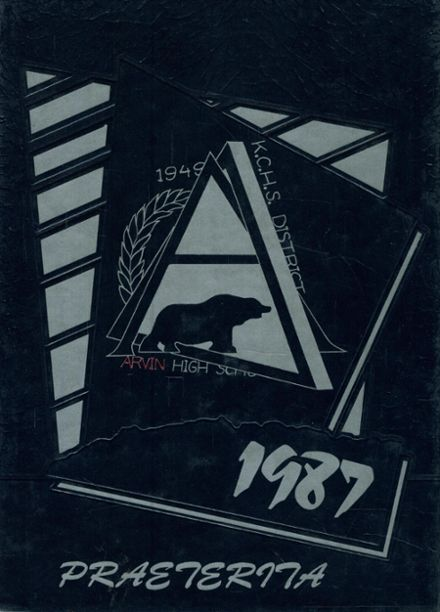 1987 Arvin High School Yearbook Cover