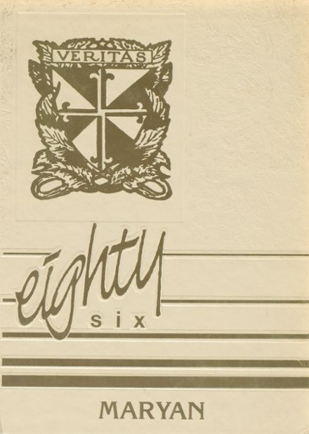 1986 St. Mary's High School Yearbook Cover