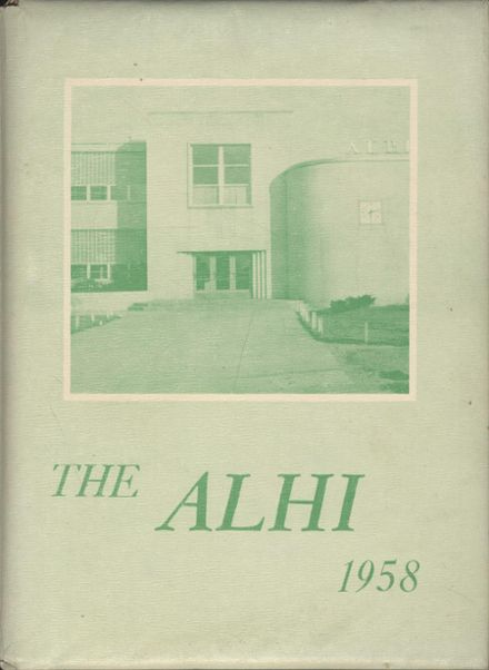 1958 Albion High School Yearbook Cover