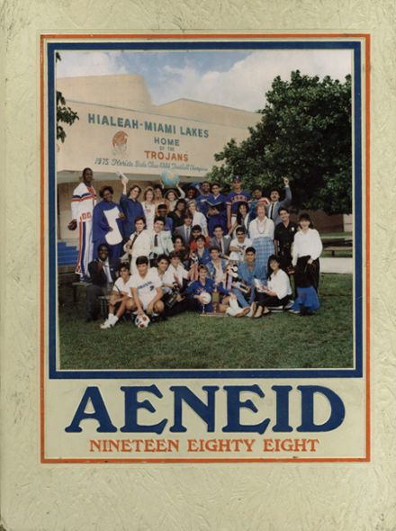 1988 Hialeah-Miami Lakes High School Yearbook Cover