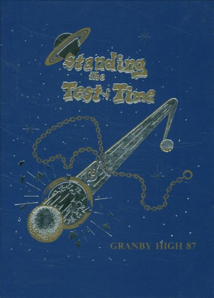 1987 Granby High School Yearbook Cover