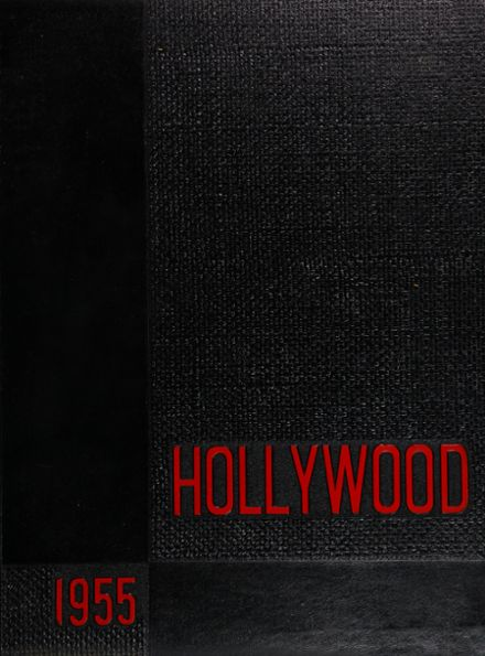 1955 Hollywood High School Yearbook Cover