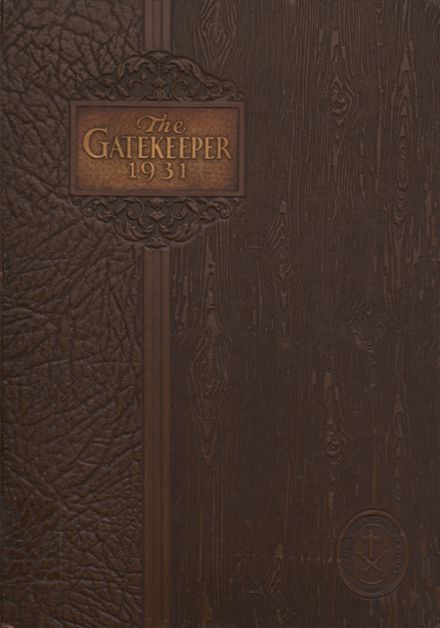 1931 St. Peter's High School Yearbook Cover