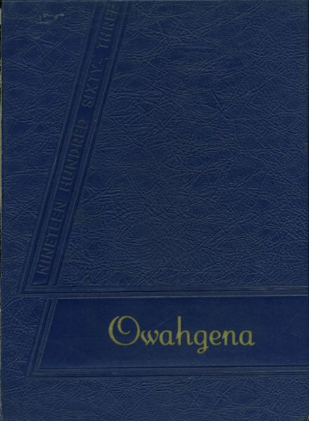1963 Cazenovia High School Yearbook Cover