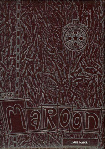 1966 Boys' Central High School Yearbook Cover