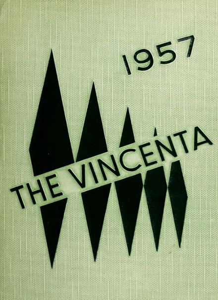 1957 St. Vincent's High School Yearbook Cover
