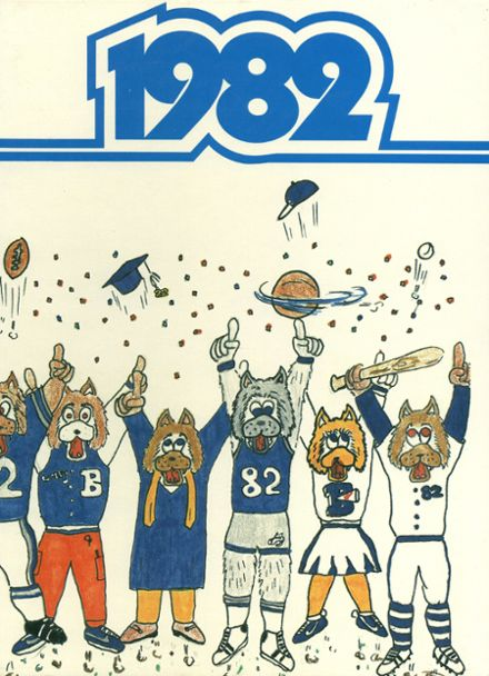 1982 Basic High School Yearbook Cover