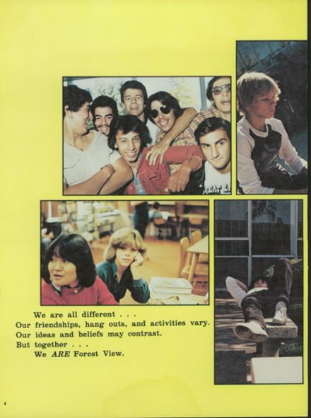 explore 1981 forest view high school yearbook arlington heights