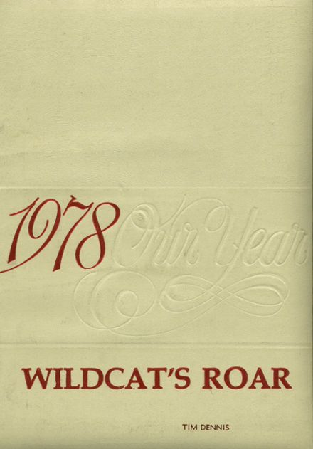 1978 Warsaw High School Yearbook Cover