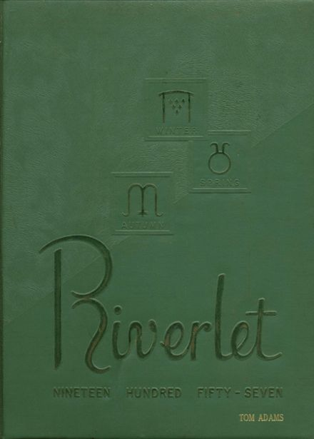 1957 Rocky River High School Yearbook Cover