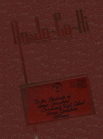 1955 Anna-Jonesboro High School Yearbook Cover