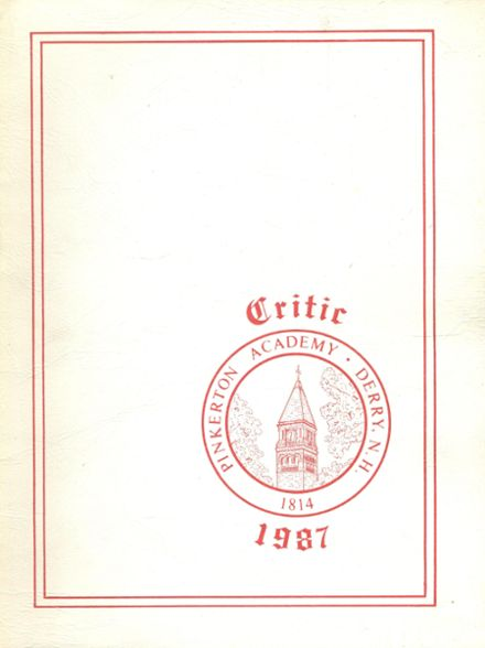 1987 Pinkerton Academy Yearbook Cover