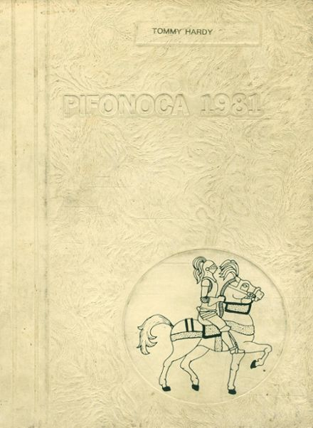 1981 Pine Forest High School Yearbook Cover