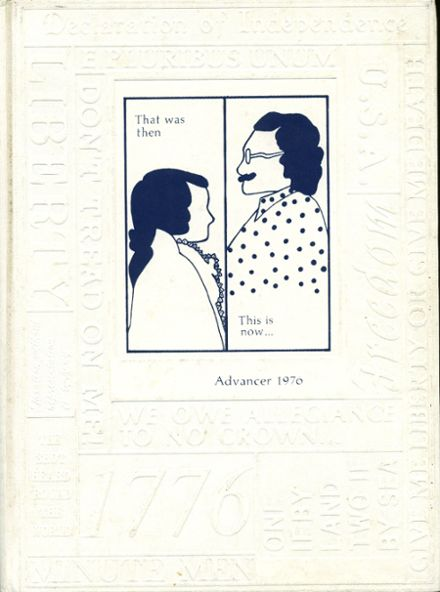 1976 Advance High School Yearbook Cover