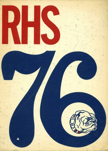 1976 Rutherford High School Yearbook Cover