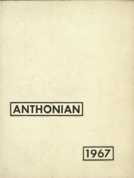 1967 St. Anthony's High School Yearbook Cover