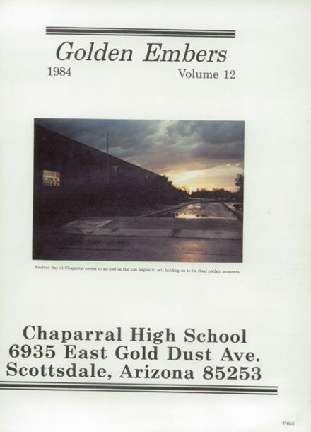 1984 Chaparral High School Yearbook Page 5