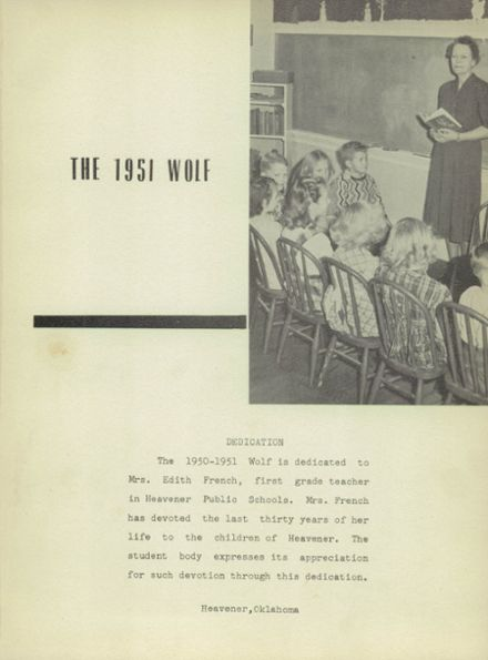 1951 Heavener High School Yearbook Page 5