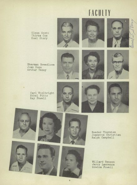 1951 Heavener High School Yearbook Page 7