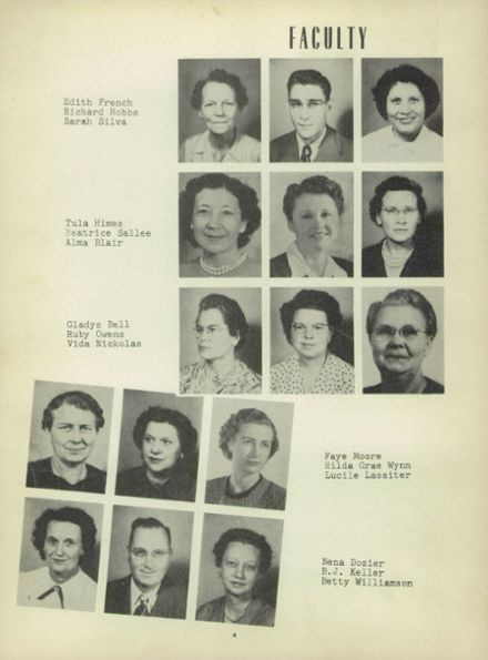 1951 Heavener High School Yearbook Page 8
