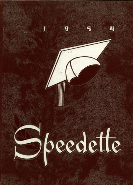 1954 Speedway High School Yearbook Cover