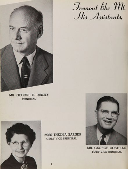 1955 Fremont High School Yearbook Page 8