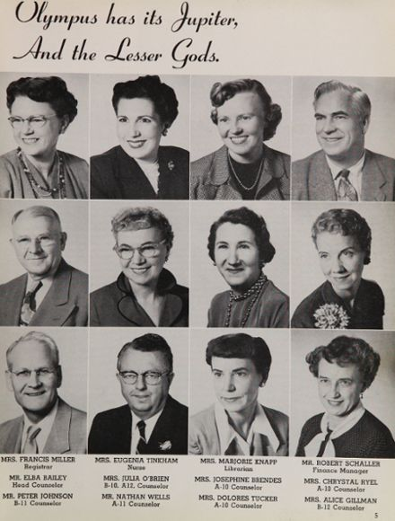1955 Fremont High School Yearbook Page 9