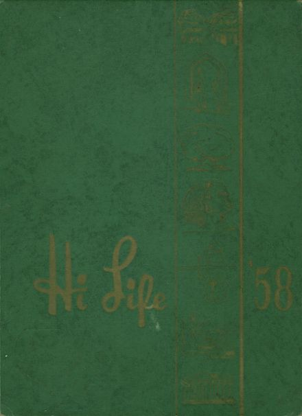 1958 Ashland High School Yearbook Cover