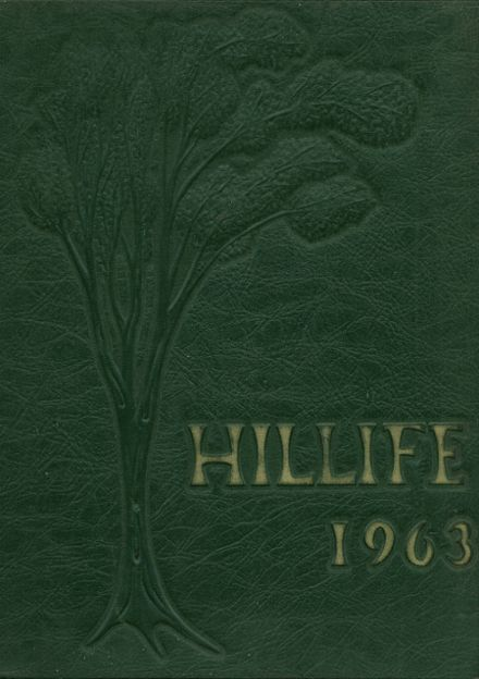 1963 Chapel Hill High School Yearbook Cover