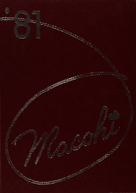 1981 Madison County High School Yearbook Cover