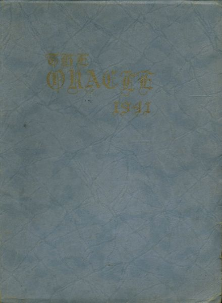 1941 Watkins Glen High School Yearbook Cover