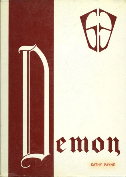 1963 Golden High School Yearbook Cover