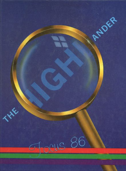 1986 Highland High School Yearbook Cover