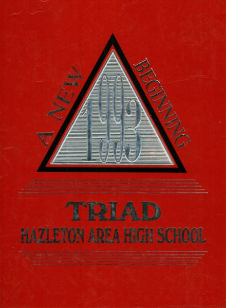 1993 Hazleton Area High School Yearbook Cover